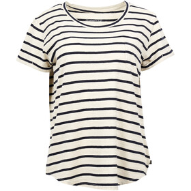United By Blue Standard Striped T-shirt avec poche de poitrine Femme, blue
